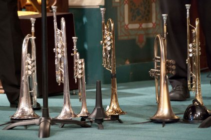 05 Trumpets on their stands